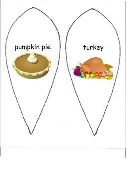 Make A Turkey Vocabulary