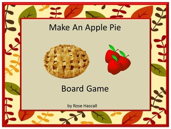 Make An Apple Pie Board Game Preschool, Kindergarten, Auti