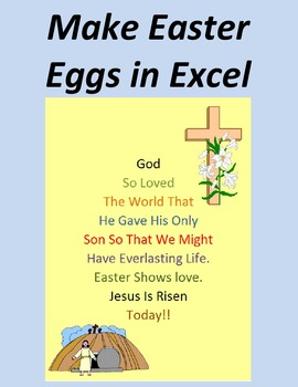 Make Easter Eggs in Excel with Religious Verses