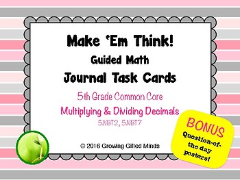 Make 'Em Think Multiplying and Dividing Decimals Journal T