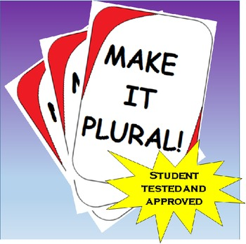 Make It Plural! Plural Nouns Review card game -s, -es, -ie