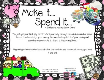 Make It... Spend It... A Budgeting Scoot Game