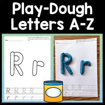 Playdough Letter Mats {26 Pages!}