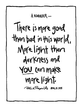 Make More Light Poster by Peter H. Reynolds