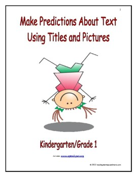 Make Predictions About Text Using Titles and Pictures: Int