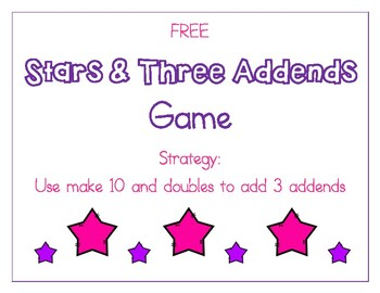 Make Ten & Doubles Strategies for Adding Three Addends