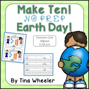 Make Ten NO PREP Earth Day FREEBIE