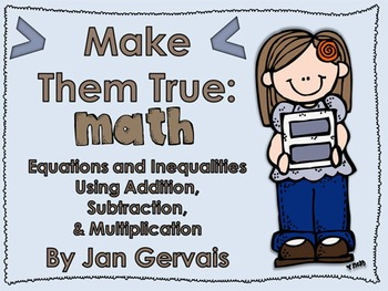 Math Equations & Inequalities Using Addition, Subtraction,