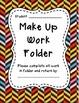 Make Up Work Folder Covers