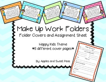 Make Up Work Folders