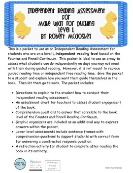 Make Way for Ducking- Independent Reading Assessment- Level L