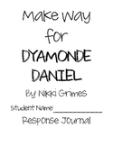 Make Way for Dyamonde Daniel Reading Response Journal & Ac