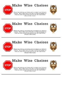 Make Wise Choices-Behavior Management