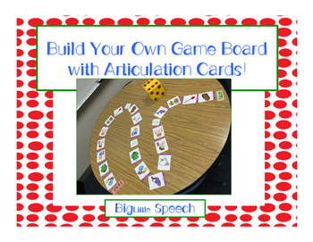 Make Your Own Board Game with Articulation Cards for Speec