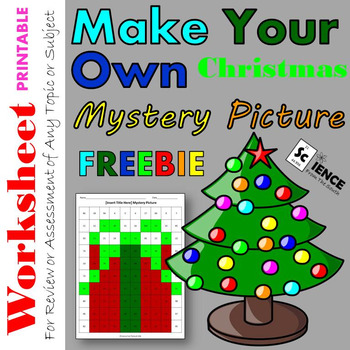 Make Your Own Christmas Mystery Picture Worksheet for Any