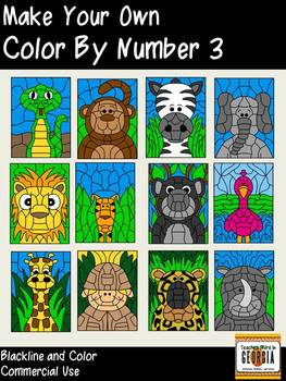 Make Your Own Color By Number-Set 3- Wild Things-Commercia