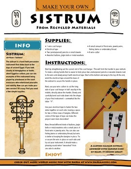 Ancient Instruments - Make Your Own Egyptian Sistrum (Rattle)