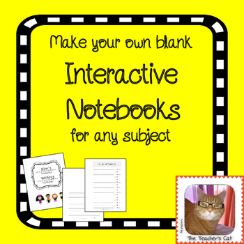 Make Your Own Interactive Notebook - easier than buying spirals