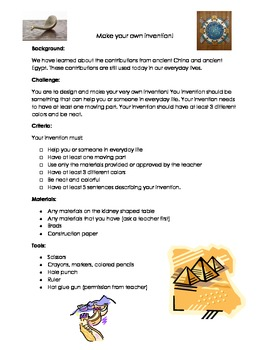 Make Your Own Invention: Integrated STEAM lesson with anci