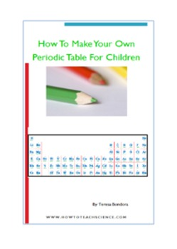 Make Your Own Periodic Table For Children