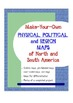 Geography:Make-Your-Own Physical,Political & Region Maps -