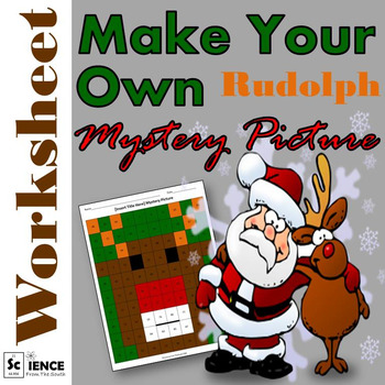 Make Your Own Rudolph Mystery Picture Worksheet for Any To