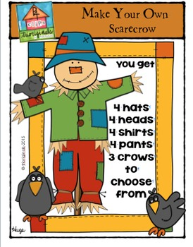 Make Your Own Scarecrow {P4 Clips Trioriginals Digital Clip Art}