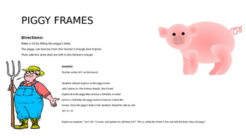 Make a 10, then add the Extra Ones Piggy Frame