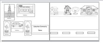 Make a 3-D diagram of a Suburban Community