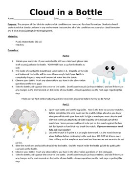 Make a Cloud in a Bottle Lab!
