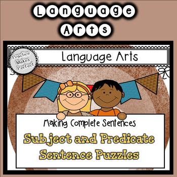 Make a Complete Sentence Fall Subject-Predicate Puzzles