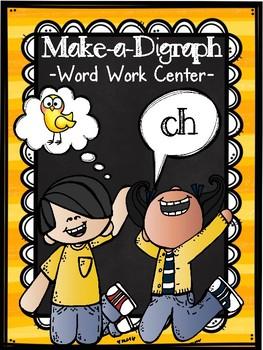 Make-a-Digraph Word Work Center
