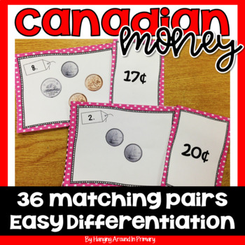 Canadian Money Matching Math Center