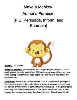 Make a Monkey- Author's Purpose