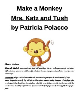 Make a Monkey Mrs. Katz and Tush by Patricia Polacco Game