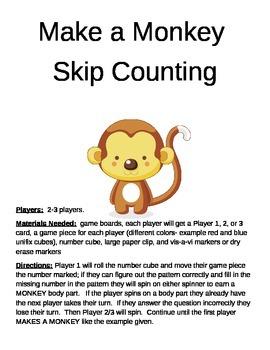Make a Monkey  Skip Counting Game