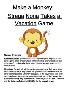 Make a Monkey- Strega Nona Takes a Vacation Game