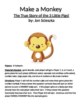 Make a Monkey: The True Story of the 3 Little Pigs! by Jon