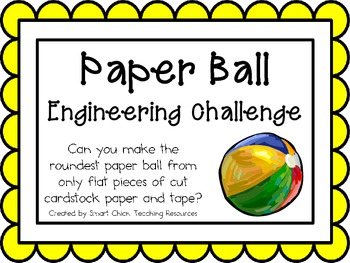 Make a Paper Ball: Engineering Challenge Project ~ Great S