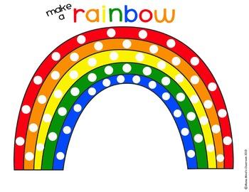 Make a Rainbow Pom-Pom Busy Bag Activity - FREE