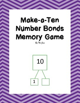 Make-a-Ten Number Bonds Memory Game