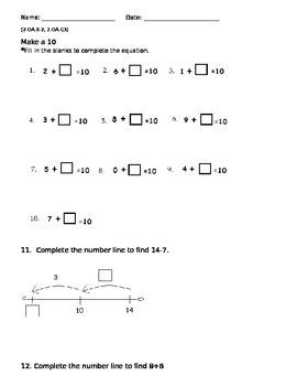 Make a ten. Even or Odd. Assessment