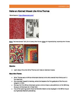 Make an Abstract Mosaic Like Alma Thomas