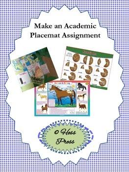 Make an Academic Placemat Assignment