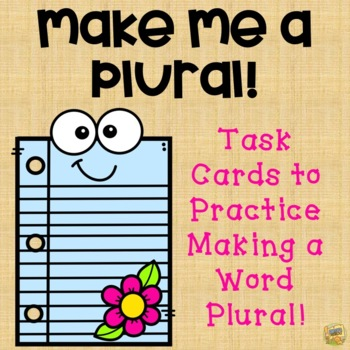 Make it a Plural!  Exciting Scoot Game - Common Core L1.1c