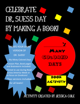 Make your Own Book:  My Many Colored Days Book Activity