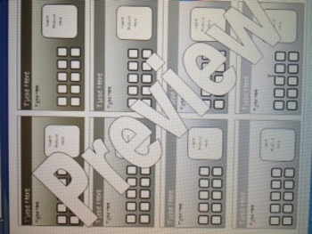 Make your own Incentive Punch Cards Template