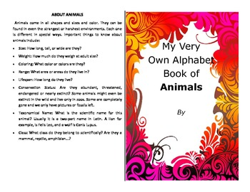 Make your own booklet on the ABC's of animals nearly 200 v