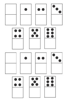 Make your own dominoes - Blank one side
