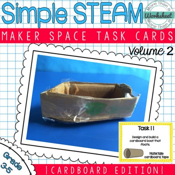 Maker Space Task Cards (Cardboard)